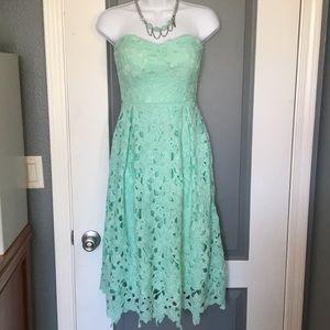 NWT Gorgeous mint green lace dress